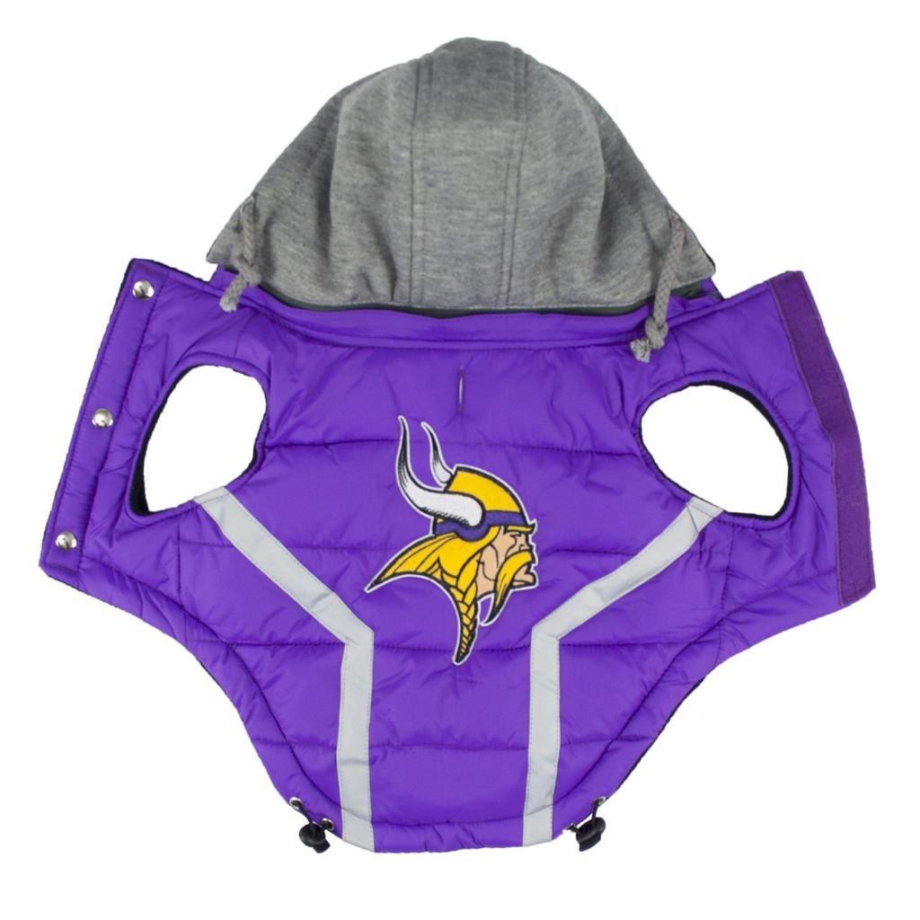 Hip Doggie Minnesota Vikings Dog Puffer Vest