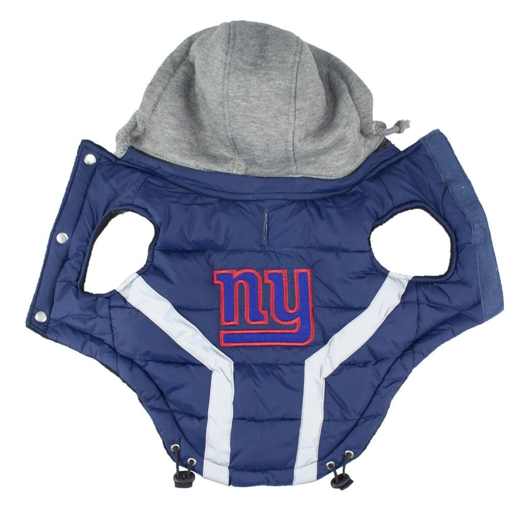 Hip Doggie New York Giants Dog Puffer Vest