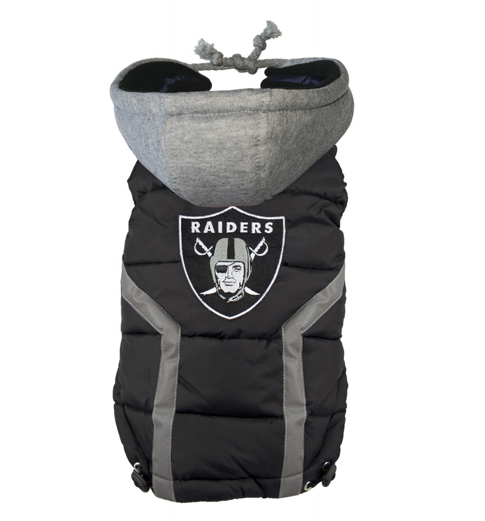 NFL Oakland Raiders Dog Puffer Vest