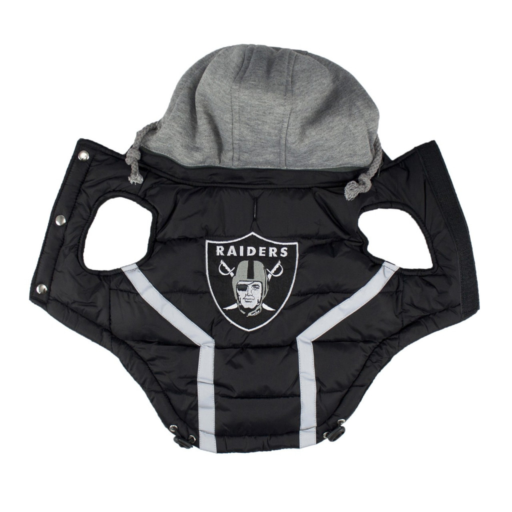 Hip Doggie Oakland Raiders Dog Puffer Vest