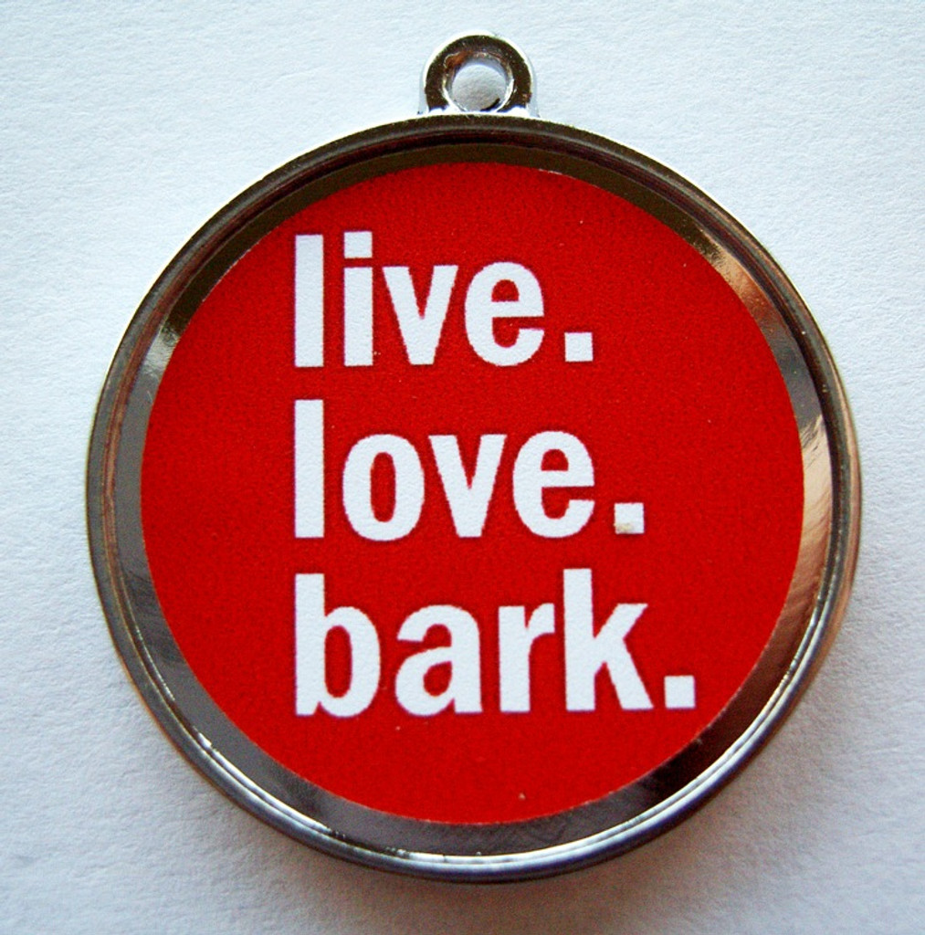 Bark Red ID Tag