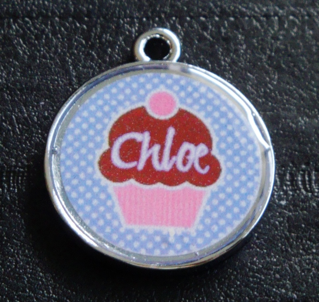 Cute Cupcakes no.4 Pet ID Tag w/ Pet's Name or Initial