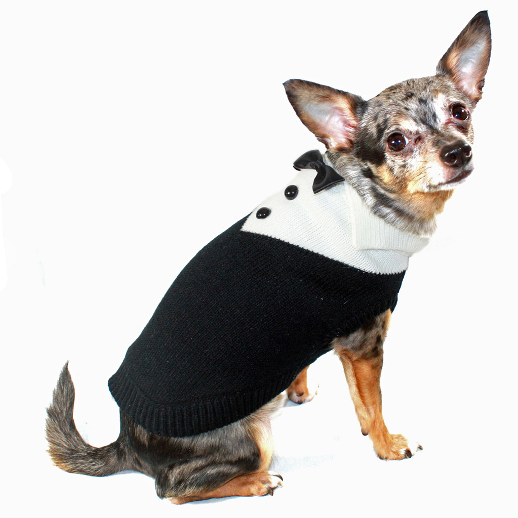 Black Tux Sweater