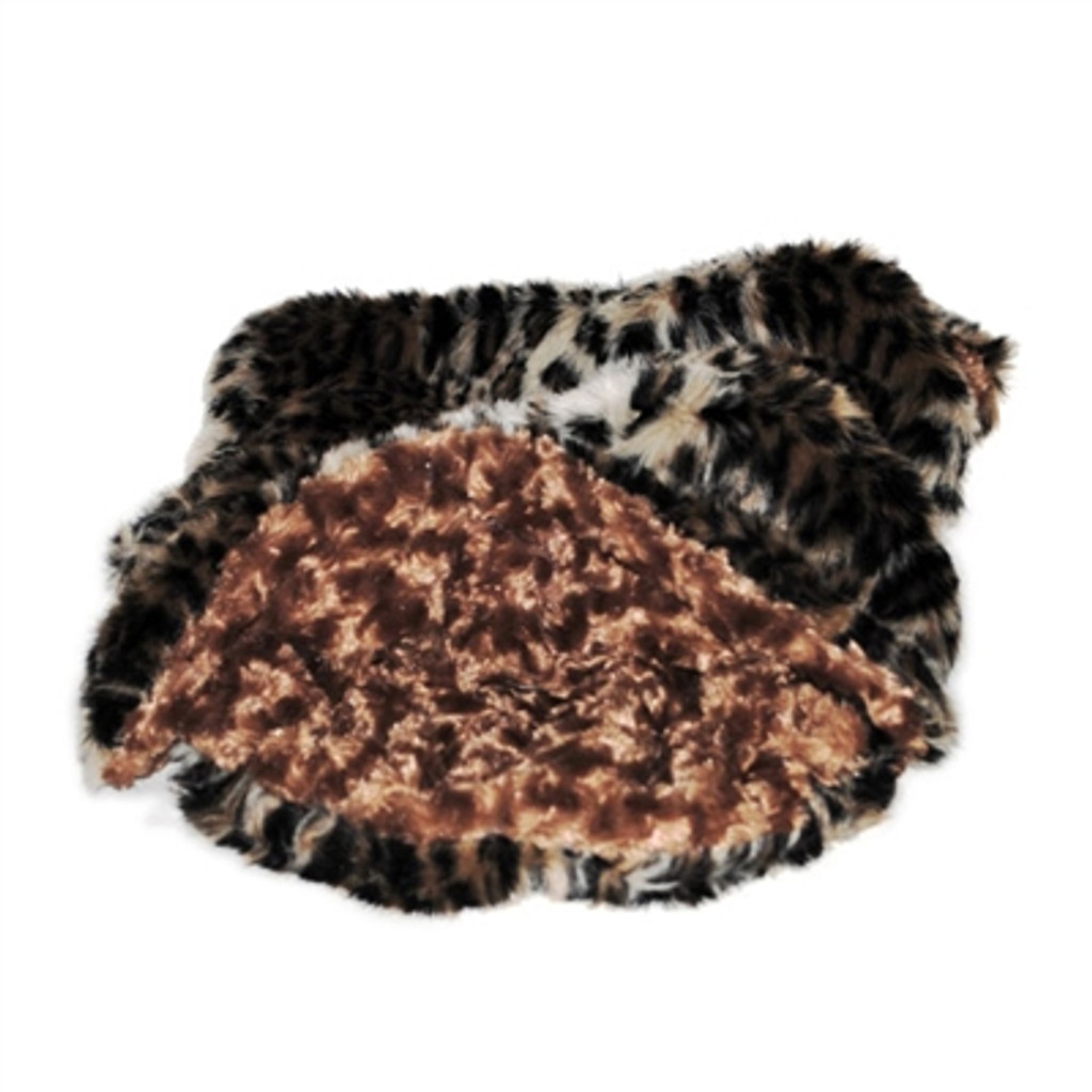 Brown Leopard Plush Cozy Sak