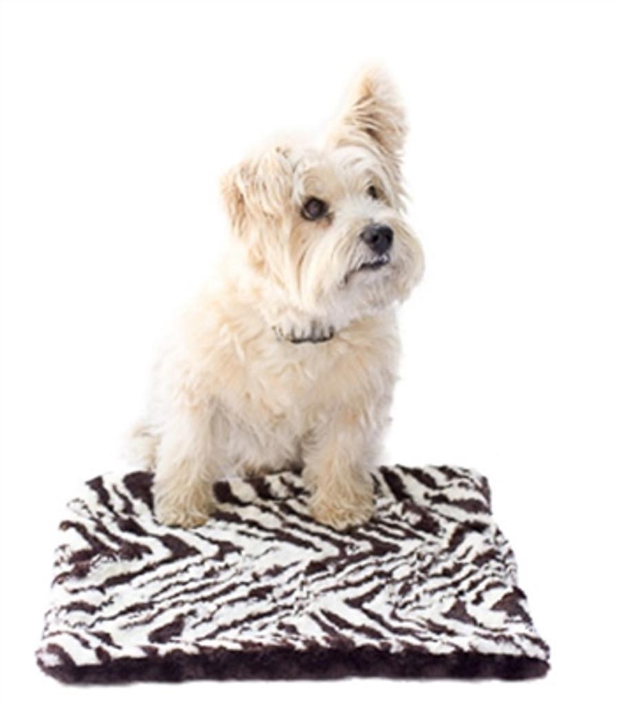 Brown Zebra and Brown Minkie Binkie Blanket