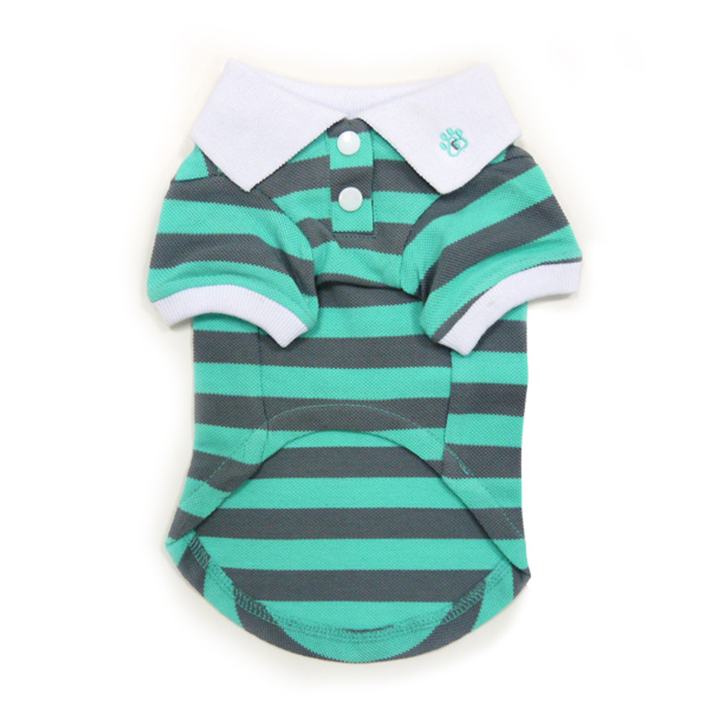 Stripe Polo Shirt Gray/Green