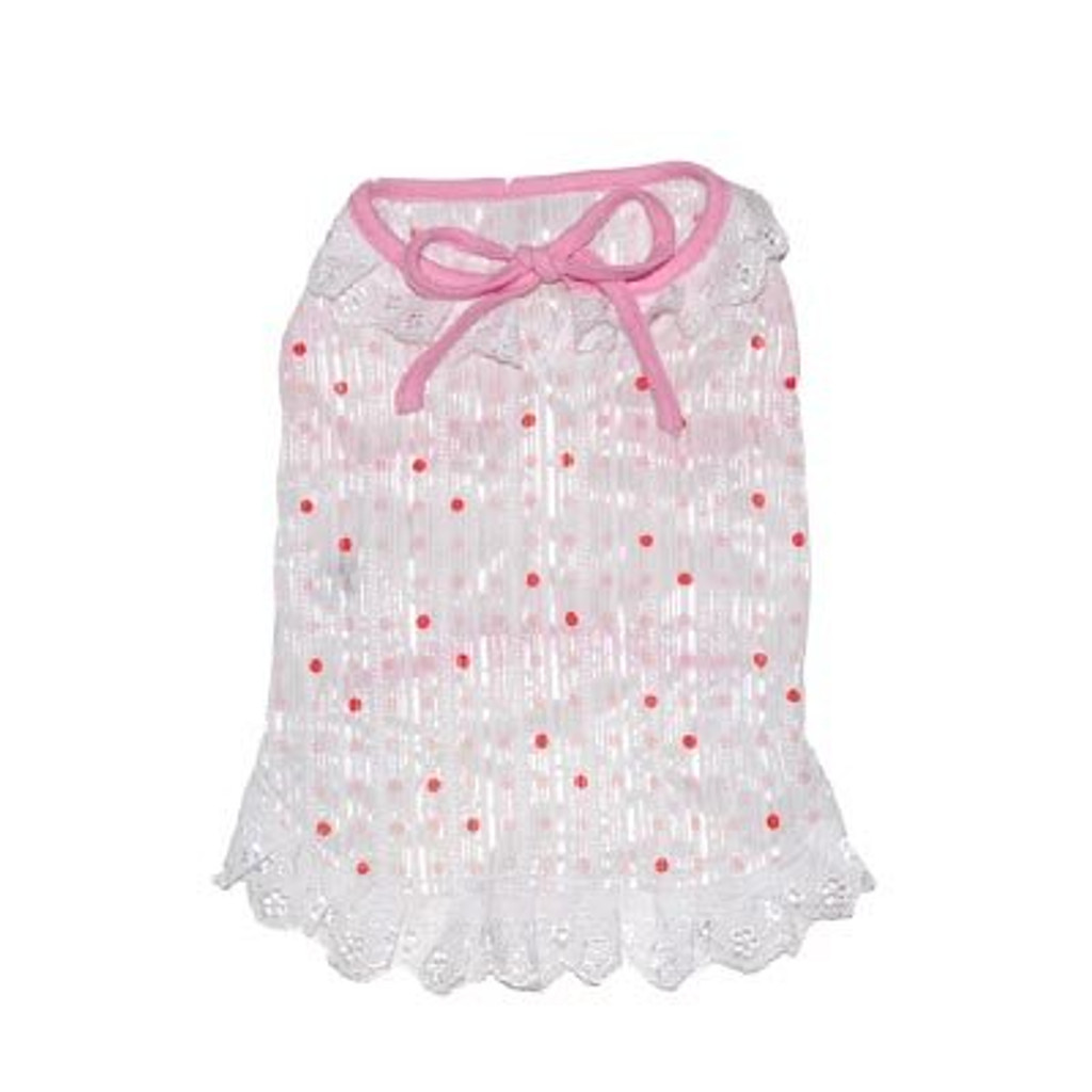 Dogo Dog Pink Polka Dot Ruffle dress