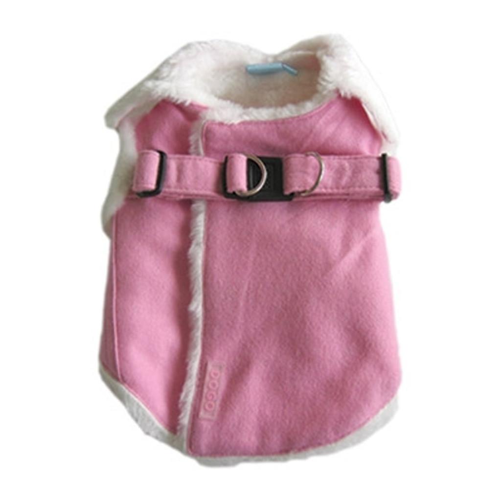 Pink Furry Harness Vest