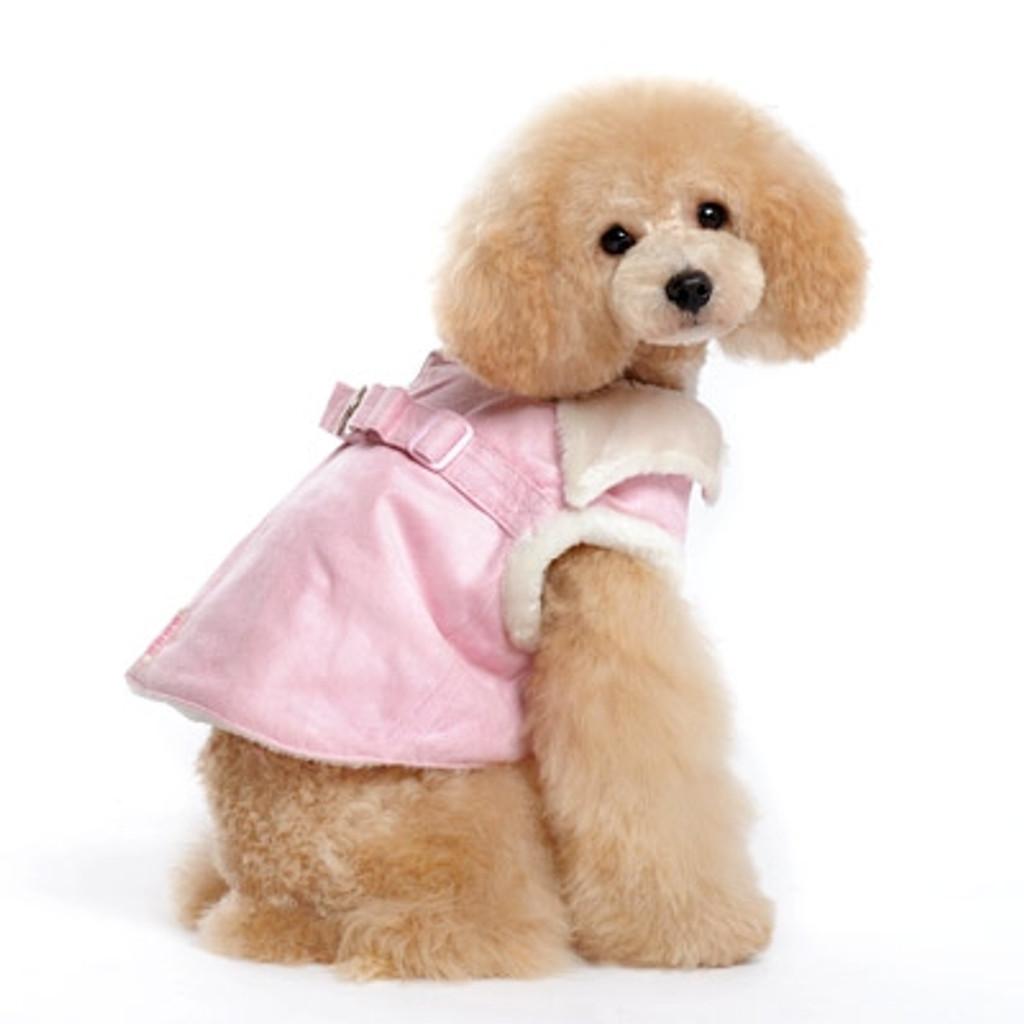 Pink Furry Winter Harness Vest