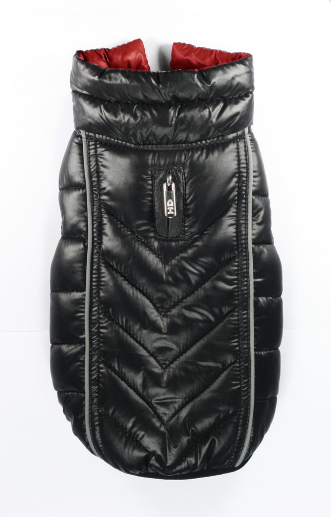 Featherlite Reversible-Reflective Puffer Vest Black/Red