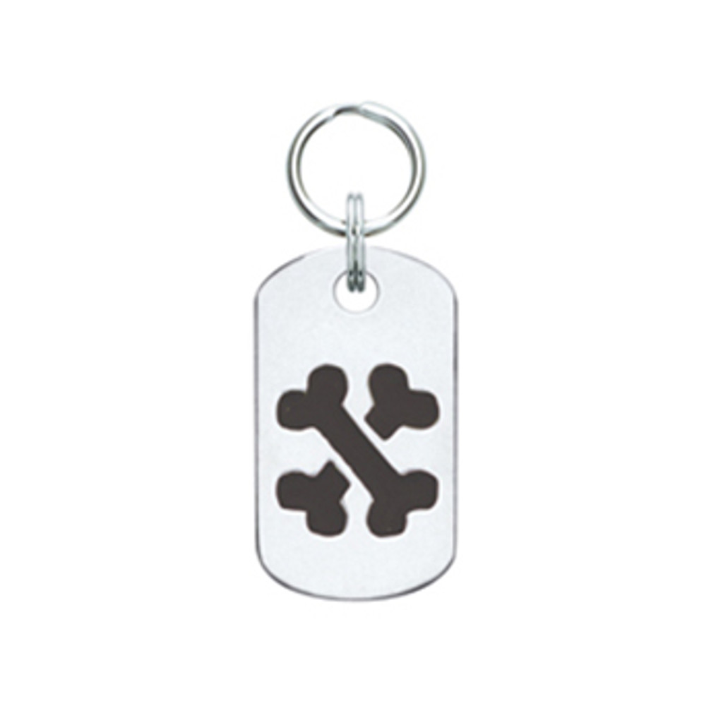 Doggie Tag with Crossbones