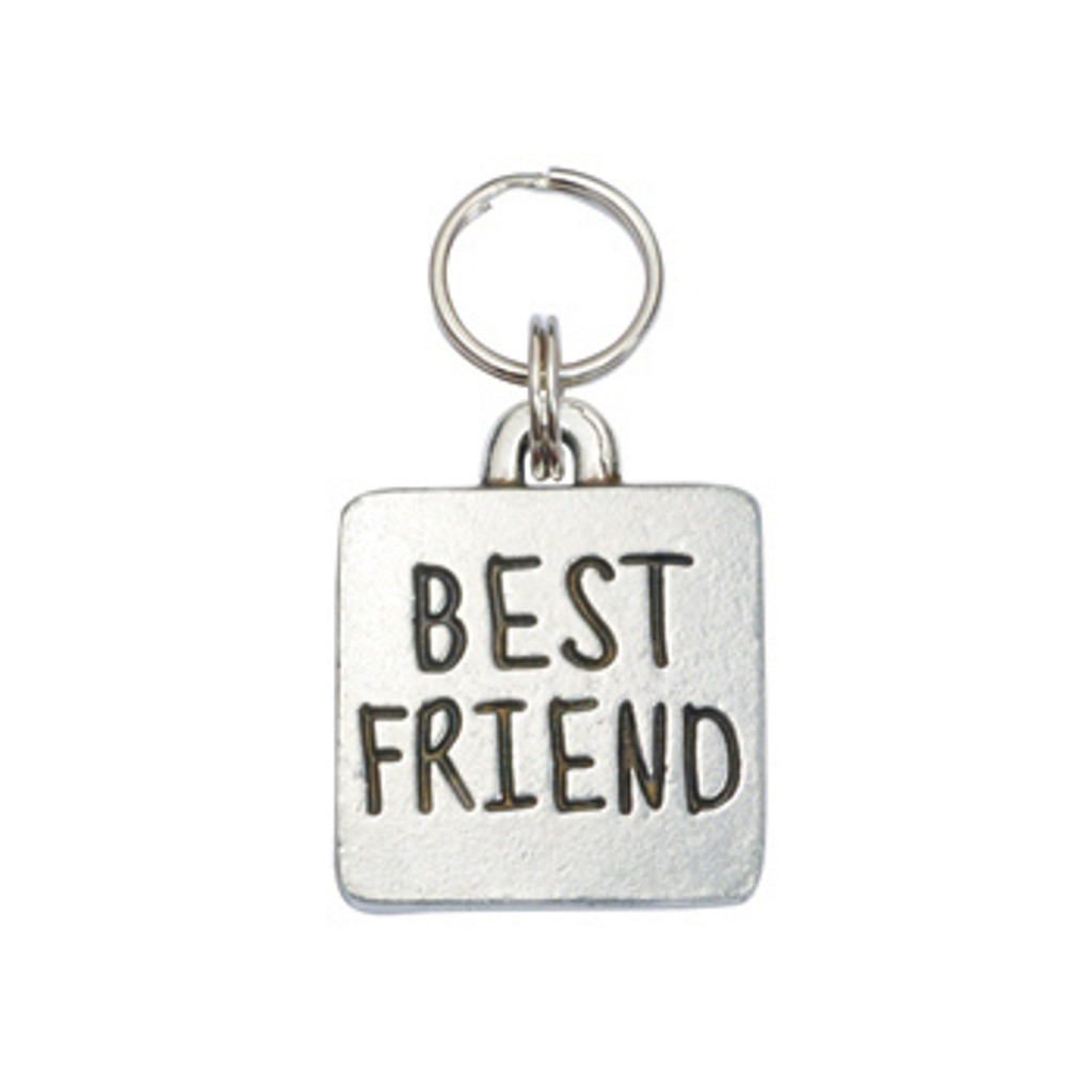 Best Friend Square Pet ID Tag