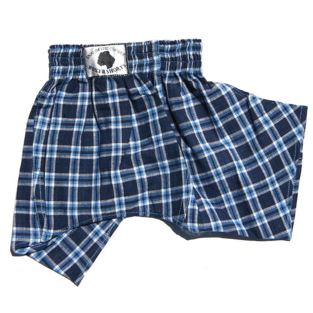 Boxer Shorts for Dogs - Blue Cotton