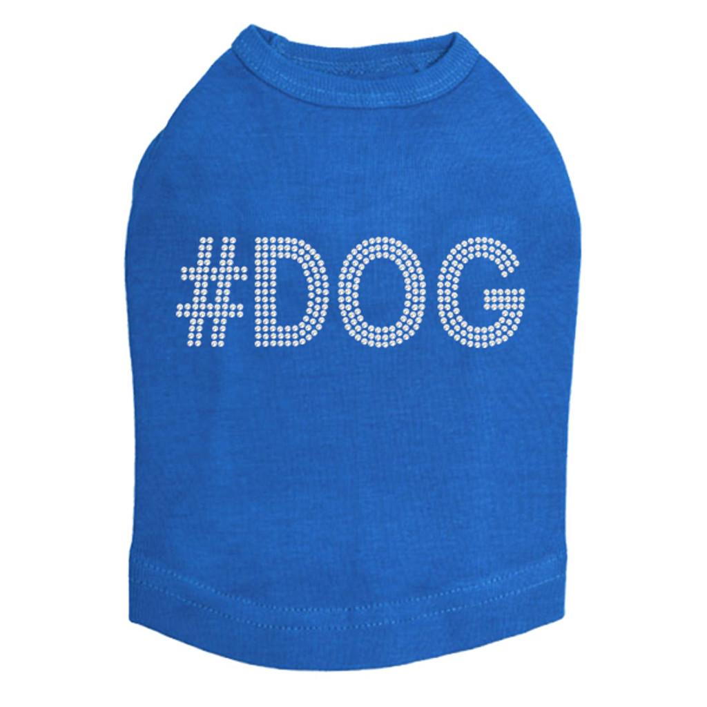 #DOG - Rhinestone - Dog Tank - Royal Blue
