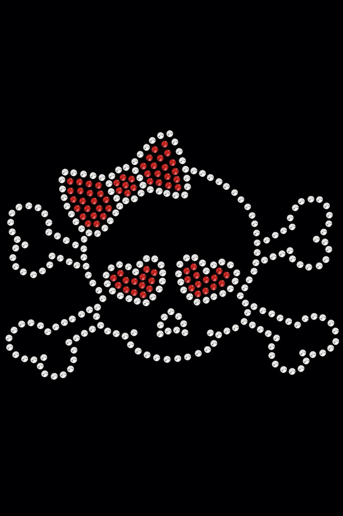 Skull with Red Bow - Dog Tank
