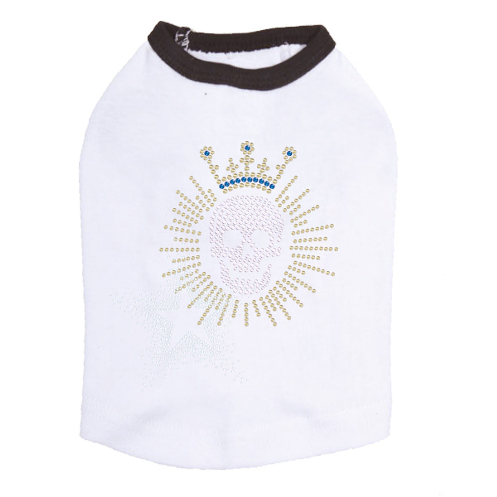 Skull with Swarovski Crown - Dog Tank