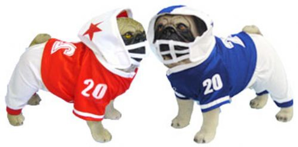 Football Uniform Dog Costume - Red