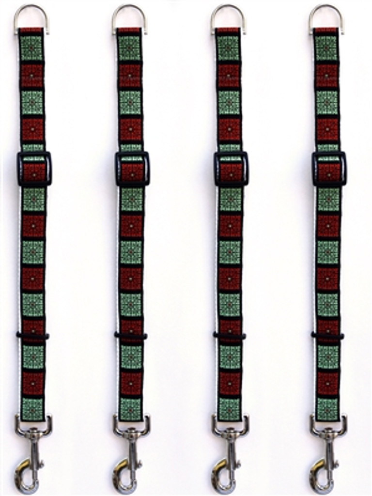 Savannah Squares Linden and Rust Leash Extenders