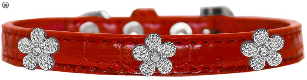 Copy of Black Bone Widget Croc Dog Collar