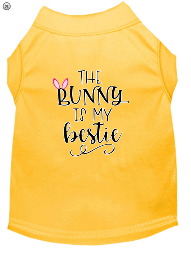 Bunny is my Bestie Screen Print Dog Shirt