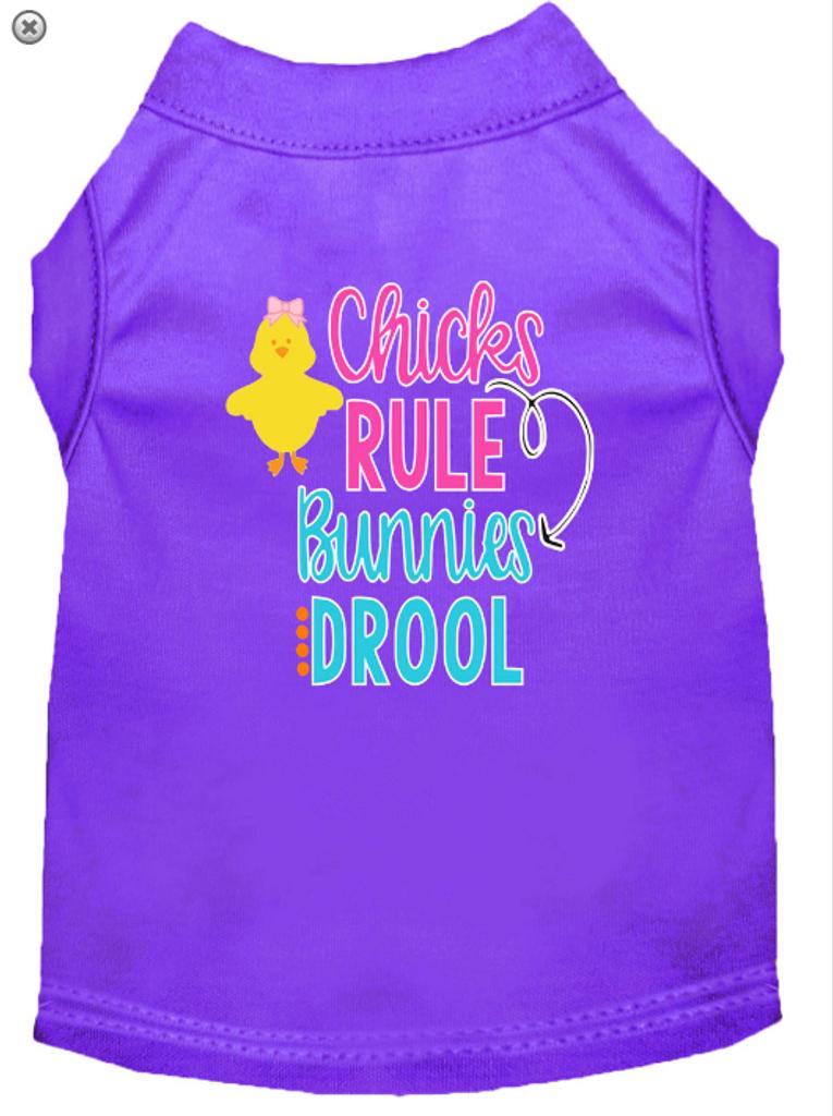 Chicks Rule Screen Print Dog Shirt