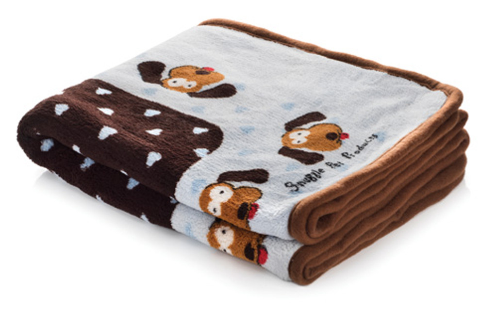 Smart Pet Love Soft Snuggle Blanket for Warmth & Comfort For Puppy - It's a Boy