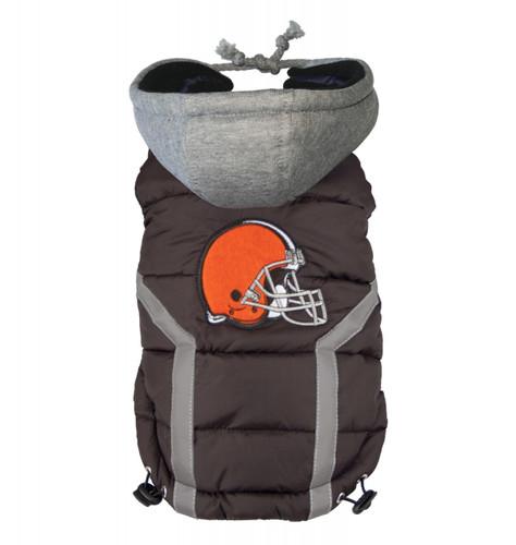 NFL Cleveland Browns Dog Puffer Vest