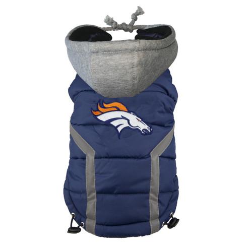 NFL Denver Broncos Dog Puffer Vest
