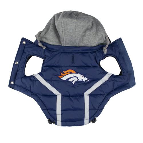 Hip Doggie Denver Broncos Dog Puffer Vest