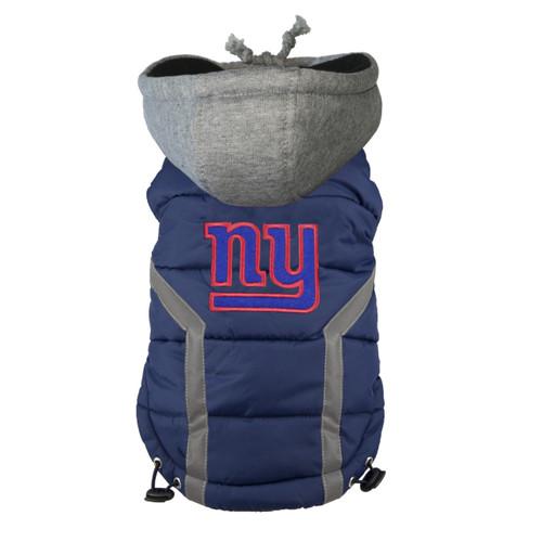 NFL New York Giants Dog Puffer Vest