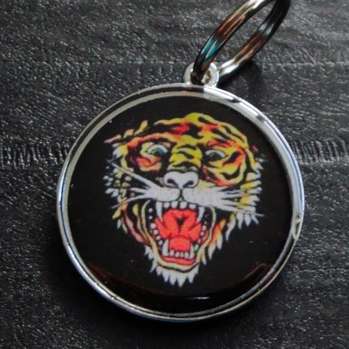 Tiger Black Pet ID Tag