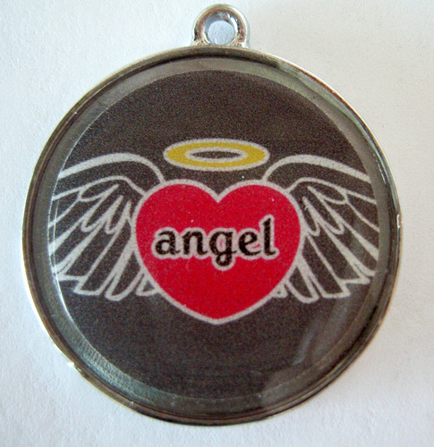 Angel Heart Wing Pet ID Tag