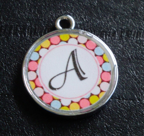 Daydream Dots Pet ID Tag w/ Pet's Name or Initial