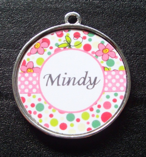 Light Pink Bubblegum Dot Pet ID Tag w/ Pet's Name