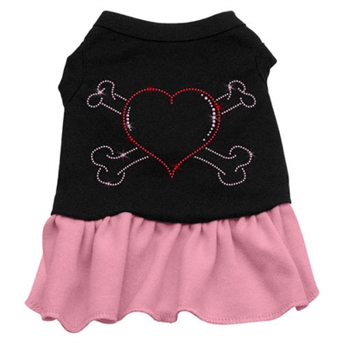 Heart and Crossbones Rhinestone- pink