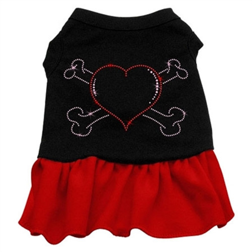 Heart and Crossbones Rhinestone- red