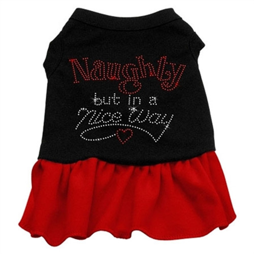 Naughty But In A Nice Way Rhinestone- red
