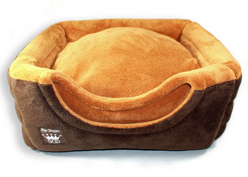 Deluxe Single Door Pop Tent Bed - Brown