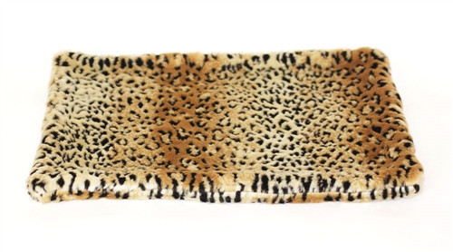 Brown Leopard All Plush Crate Liner