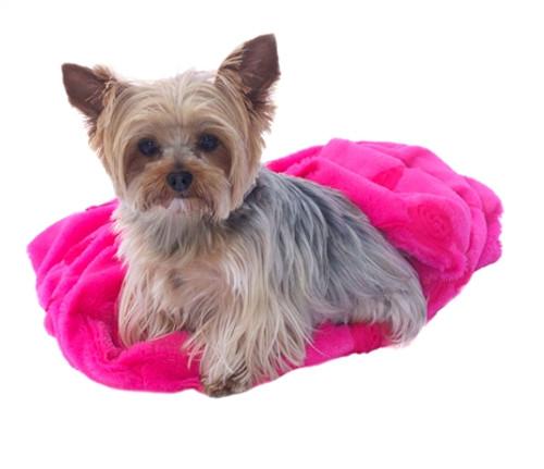 Hot Pink Roses Plush Cozy Sak