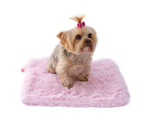 Pale Pink Powder Puff Minkie Binkie Blanket