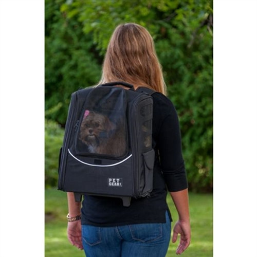 Pink Escort Dog Roller-Backpack
