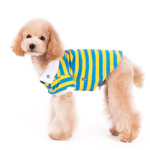 Stripe Polo Shirt Yellow/Blue