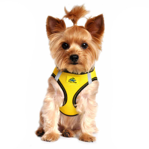 American River Dog Harness Top Stitch Collection - Vibrant Yellow