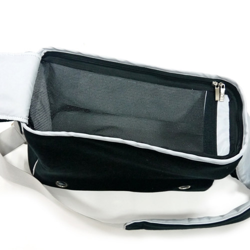Black Boxy Messenger Bag