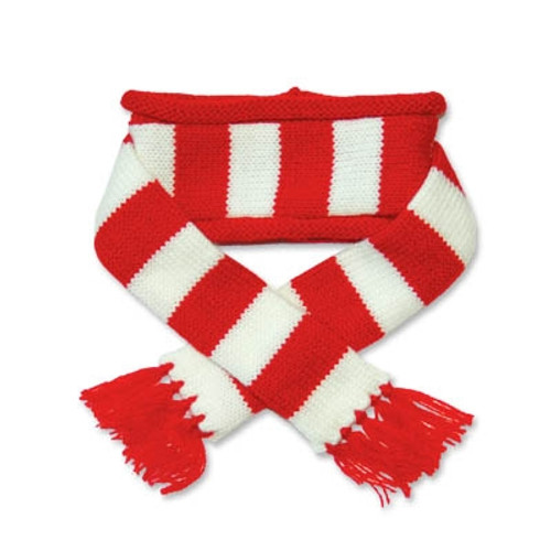 Red Urban Stripe Scarf