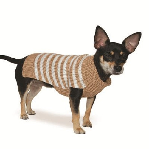 Beige Stripy Lover Sweater