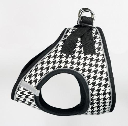 EZ Reflective Houndstooth Harness Vest - Black/White