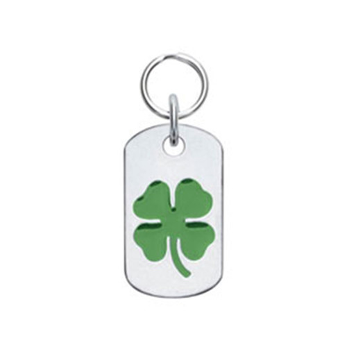 Doggie Tag with Four Leaf Clover