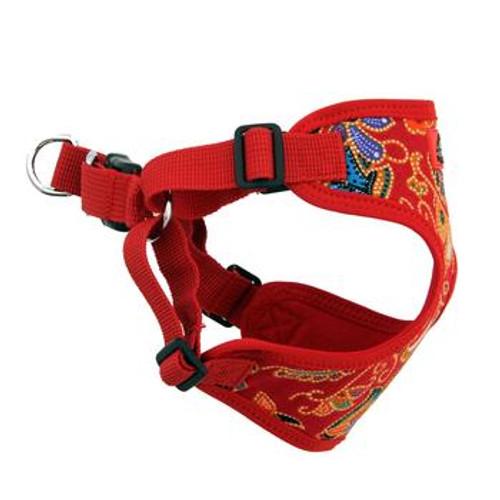 Wrap and Snap Choke Free Dog Harness - Tahiti Red
